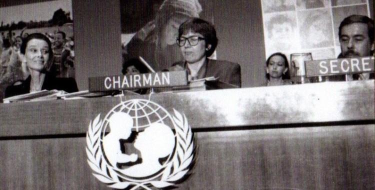 Torild Skard som styreleder for FNs barnefond (UNICEF)