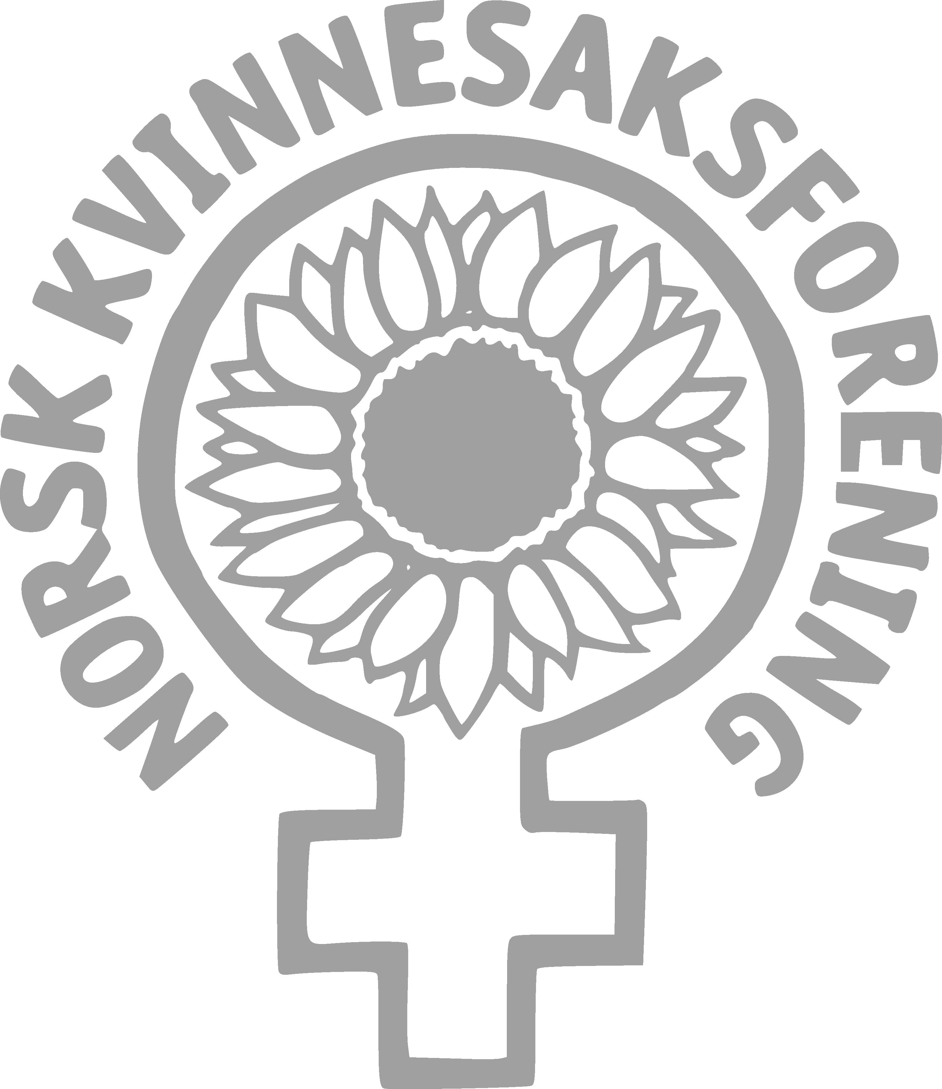En lys grå versjon av NKFs logo