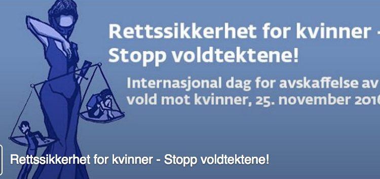Fredag 25. november:  FNs internasjonale dag for avskaffelse av vold mot kvinner